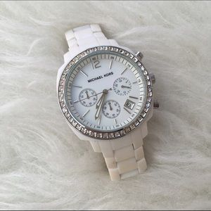 Michael Kors White Plastic Quartz Watch